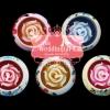 เทียนหอมดอกกุหลาบบรรจุในเซรามิคหัวใจ/ ช้าง/ โอ่ง แพ็คถุงแก้ว ผูกเชือกพร้อมใบไม้