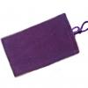 ถุงผ้ากำมะหยี่ 2 ช่อง ใส่มือถือหรือแบตสำรอง ขนาด 5.0 นิ้ว 10*16 ซม. (สีม่วง)