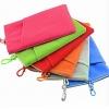 ถุงผ้ากำมะหยี่ 2 ช่อง ใส่มือถือหรือแบตสำรอง ขนาด 5.0 นิ้ว 10*16 ซม. (สีชมพู)