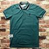 เสื้อโปโลแฟชั่น สีเขียว กุ้นคอ