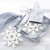 ที่คั่นหนังสือรูปหิมะ แพ็คกล่องผูกโบว์ พร้อมป้ายชื่อ