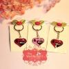 พวงกุญแจหัวใจ Love คละสี แพ็คถุงแก้วใส