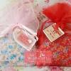 กระเป๋าแป๊กลายผ้าดอกไม้ คละสี แพ็คถุงผ้าแก้ว