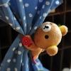 หมีคุมะ ที่รัดผ้าม่าน (ดอกไม้)