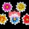 เทียนหอมลอยน้ำดอกบัว แพ็คถุงแก้ว ผูกเชือกพร้อมใบไม้