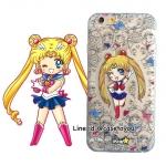 เคสใส สกรีนลายเส้นนูน Sailormoon iPhone 5/5S/SE