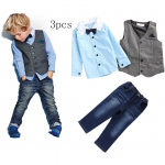 ชุดเซ็ท เสื้อเชิ๊ต+เสื้อกั๊ก+กางเกง