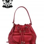 กระเป๋าทรงขนมจีบ Patola รุ่น NJ หนังลิ้นจี่ สีแดง