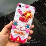 เคสซิลิโคน 3D สีใส พิมพ์ลาย #02 รุ่นไอโฟน 5c