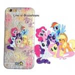 เคสใส สกรีนลายเส้นนูน Pony iPhone 5/5S/SE