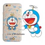 เคสใส สกรีนลายเส้นนูน Doraemon 02 iPhone 5/5S/SE