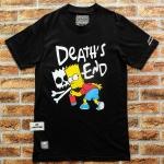 เสื้อยืดแฟชั่น Death's end simpsons ดำ