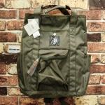 กระเป๋าเป้ ขนาด กลาง สีเขียวขี้ม้า ANELLO แท้ จากญี่ปุ่น