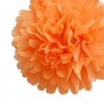 25 cm. พู่กระดาษ ส้ม
