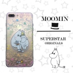 เคสใส สกรีนลายเส้นนูน Moomin iPhone 5/5S/SE