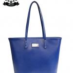 กระเป๋า Patola รุ่น M totebag หนังด้านpu สีน้ำเงิน