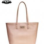 กระเป๋า Patola รุ่น M totebag หนังลิ้นจี่ สีชมพู