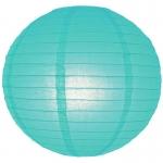 โคมไฟกระดาษ สีฟ้าน้ำทะเล