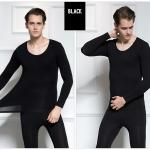 ลองจอน ฮีทเทค กันหนาว Long Johns Heattech ผู้ชาย สีดำ (เสื้อ+กางเกง)