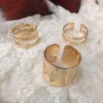 แหวนแฟชั่นสีทอง (set)