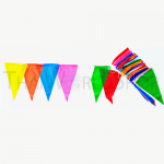 ธงราว ธงสามเหลี่ยม ธงริ้ว ธงงานวัด 7 สี หนา-ยาว พิเศษ