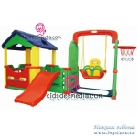 สไลเดอร์ happy box korea set M ( house / cage with slider/ swing / basketball)