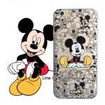 เคสใส สกรีนลายเส้นนูน Mickey Mouse 02 iPhone 5/5S/SE