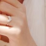 แหวนประกายเพชรรูปหัวใจ