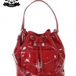 กระเป๋าทรงขนมจีบ Patola รุ่น NJ หนังแก้ว สีแดง