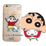 เคสใส สกรีนลายเส้นนูน Shinchan iPhone 5/5S/SE