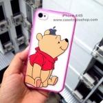 เคสซิลิโคนใส Pooh สำหรับไอโฟน 4/4S