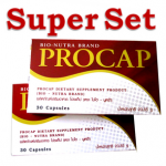 Super Set (เซ็ทขายดี/สำหรับ1เดือน) Procap 2กล่อง, อาหารเสริมลดน้ำหนัก สูตรสำหรับคนไทยโดยเฉพาะ รีวิวเพียบ, สูตร3in1 เน้นบล็อกแป้ง&ไขมัน และเร่งเผาผลาญ พร้อมช่วยลดหิวระหว่างมื้อด้วย ตัวเดียวครบสูตร
