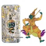 เคสใส สกรีนลายเส้นนูน Ramayana iPhone 5/5S/SE