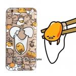 เคสใส สกรีนลายเส้นนูน ไข่ขี้เกียจ iPhone 5/5S/SE