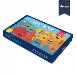 สนุกเรียนรู้แผนที่โลก Hello World (งานแม่เหล็ก)