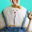 ตุ๊กตากระต่ายใส่เอี๊ยมสีฟ้า thumbnail 1