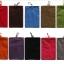 ถุงผ้ากำมะหยี่ 2 ช่อง ใส่มือถือหรือแบตสำรอง ขนาด 5.0 นิ้ว 10*16 ซม. (สีเทาเข้ม) thumbnail 4