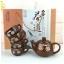 ชุดกาน้ำชาพร้อมถ้วย 4 ใบ สีน้ำตาล ใส่กล่องสวยหรู พร้อมป้ายชื่อ thumbnail 4