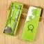 ช้อนตะเกียบ แพ็คกล่องสีเขียว ผูกโบว์ ฟรีป้ายชื่อ thumbnail 1