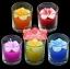 เทียนหอมดอกลีลาวดีบรรจุในแก้วใส แพ็คถุงแก้ว ผูกเชือกพร้อมใบไม้ thumbnail 1
