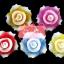 เทียนหอมลอยน้ำดอกกุหลาบ แพ็คถุงแก้ว ผูกเชือกพร้อมใบไม้ thumbnail 1