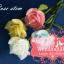 เทียนหอมดอกกุหลาบมีก้าน ดอกตูมและดอกบาน แพ็คถุงแก้ว ผูกเชือกพร้อมใบไม้ thumbnail 3