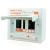 """ตู้ Consumer Unit 2P ขนาด 4-12 ช่อง """"Safe-T-Cut"""""""