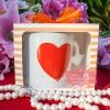 แก้วกาแฟ หัวใจนูนใหญ่ แพ็คกล่อง