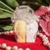 กระปุกใส่พริกไทย เซรามิค หัวใจคู่ แพ็คถุงฟูกากเพชร