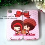 เคสคู่รัก สีชมพูหวานแหวว รุ่นไอโฟน 4/4S