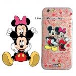 เคสใส สกรีนลายเส้นนูน Mickey&Minnie Mouse iPhone 6/6S
