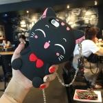 เคสแมวเรียกโชคลาภ (สีดำ) iPhone 5/5S/SE