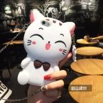 เคสแมวเรียกโชคลาภ (สีขาว) iPhone 5/5S/SE