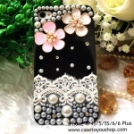 เคสเพชรมุกดอกไม้ iPhone 4/4S